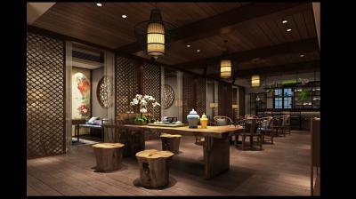 新中式会所茶室