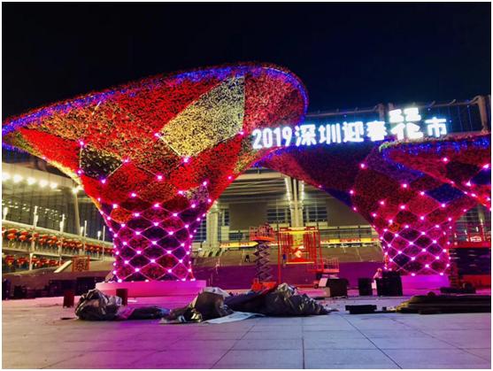 2019深圳迎春花市牌楼建造过程概况
